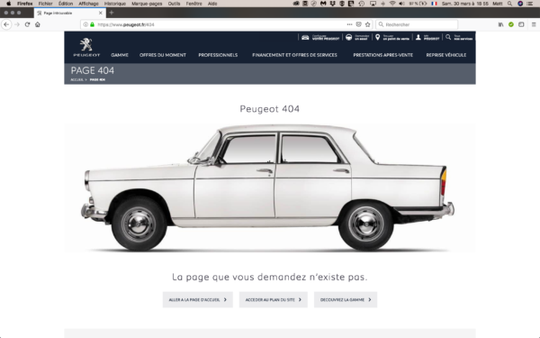 Peugeot page 404